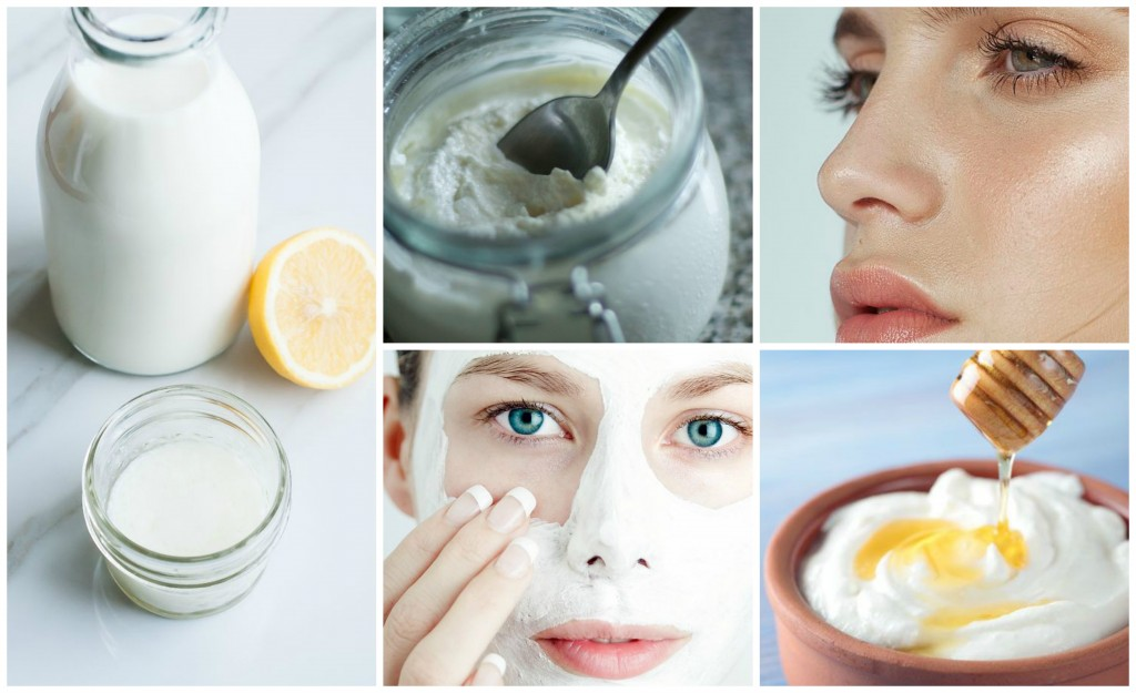 Dairy Products Face Mask Collage
