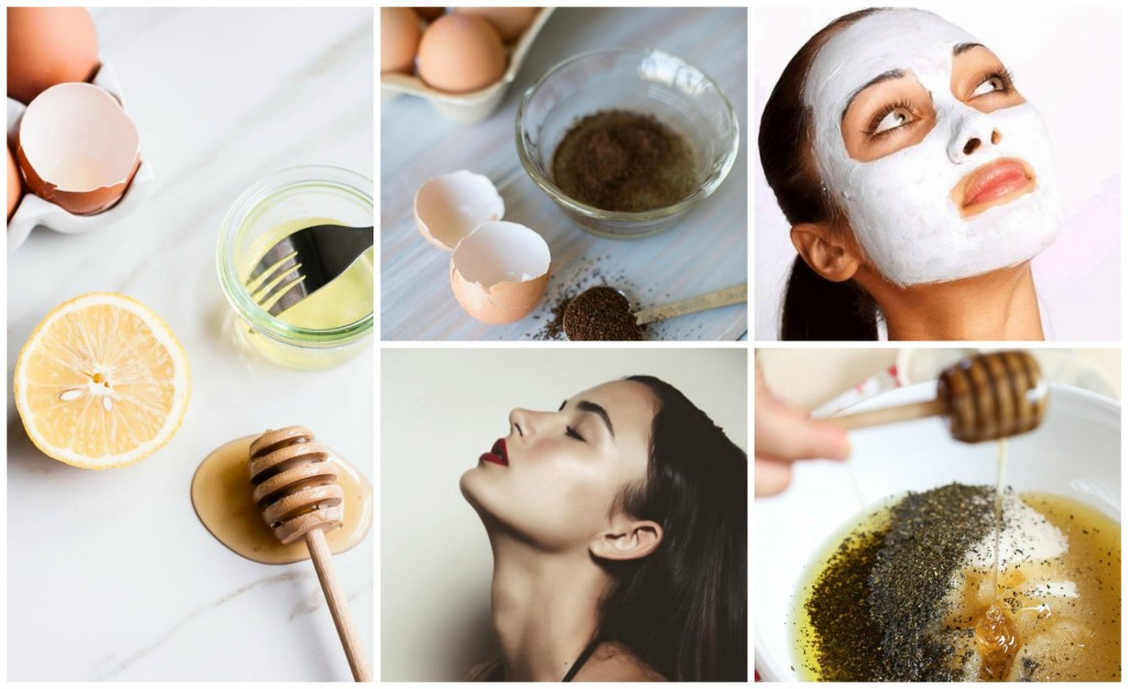 Egg Face Mask Collage
