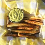 Roasted Parsnip Fries with Raw Avocado Mayonnaise