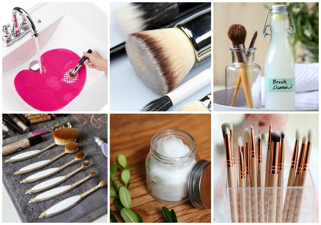 Makeup brush cleaner Collage