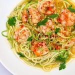 Zucchini Noodle Bowl with Shrimp and Tomatoes