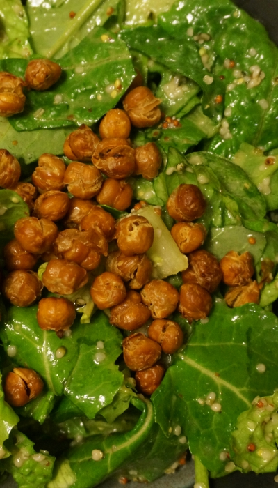 "Vegan ""Killer"" Caesar with Crunchy Chickpea Croutons"