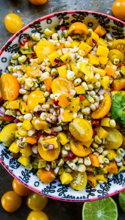 Fresh Corn and Mango Salad