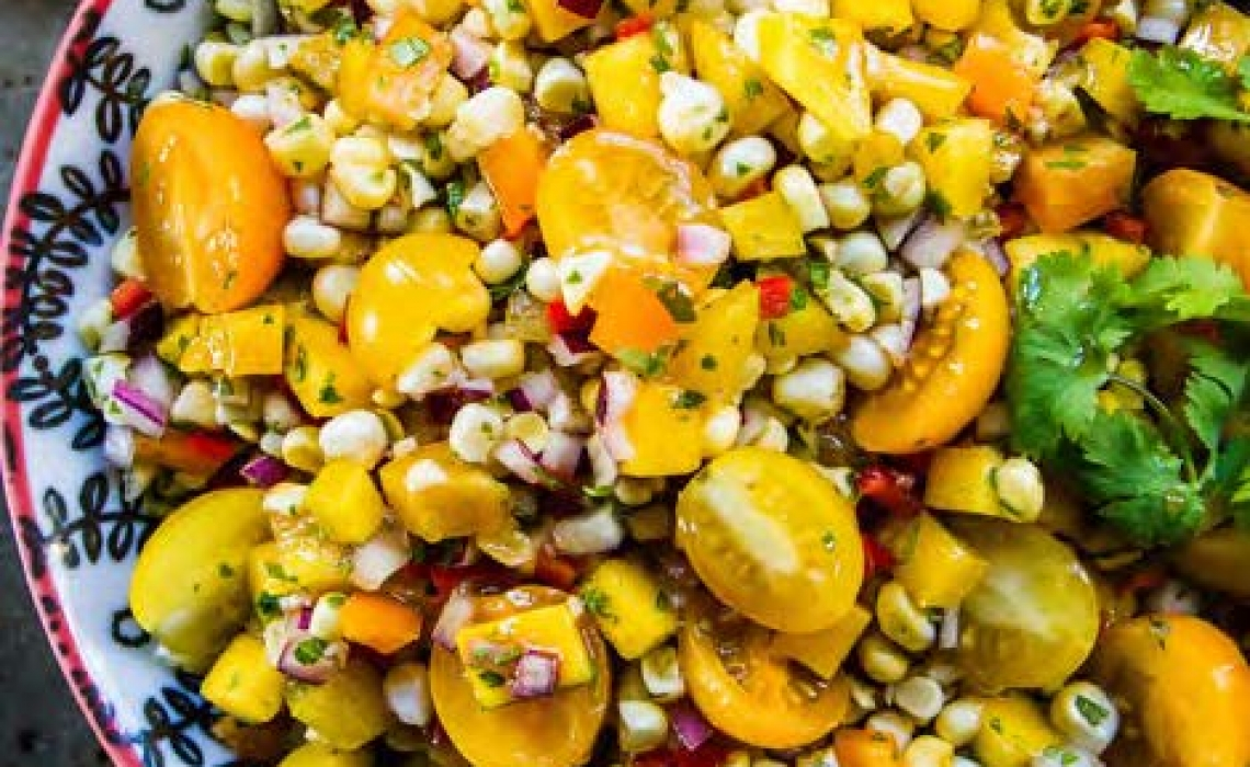 Fresh Corn and Mango Salad