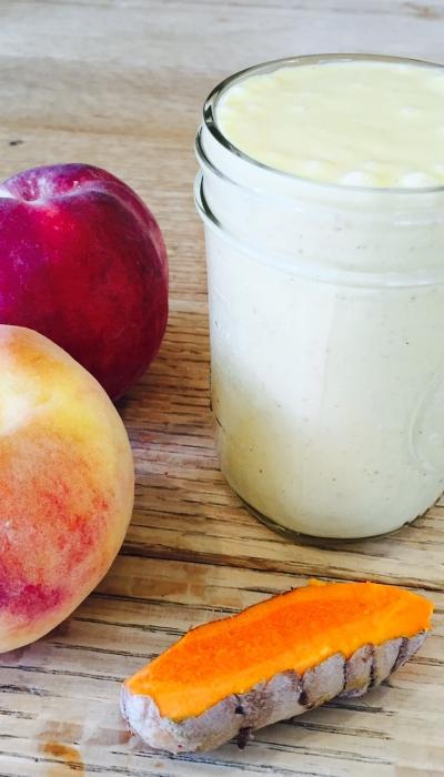 Golden Sweet Turmeric Peach Smoothie