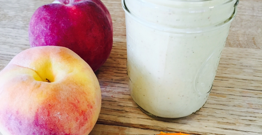 Golden Sweet Turmeric Peach Smoothie