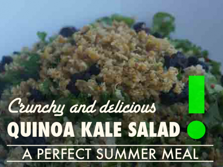 Crunchy Kale Quinoa Salad – A Perfect Summer Meal