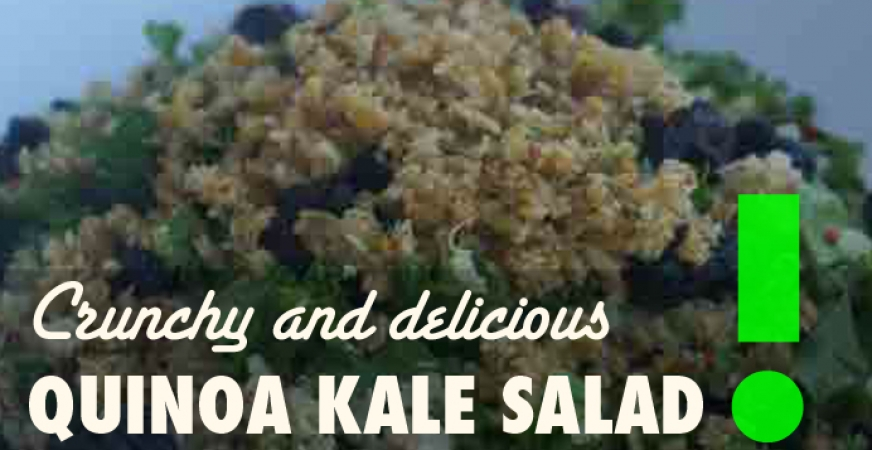 Crunchy Kale Quinoa Salad – A Perfect Summer Meal