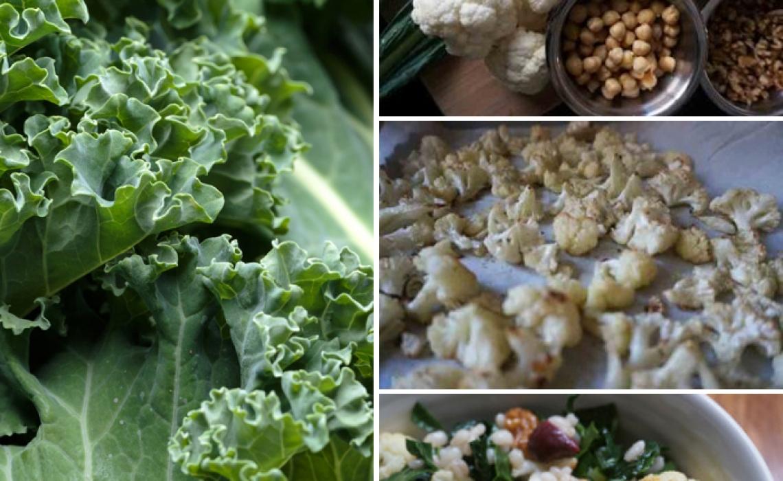 Warm Roasted Cauliflower and Barley Fall Salad