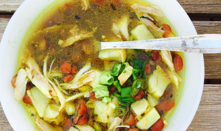 Low Glycemic Chicken and White Yam Stew